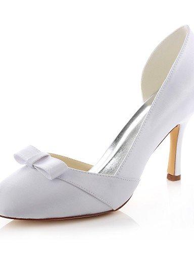 GGX/ Zapatos de boda-Tacones-Tacones / Punta Redonda-Boda / Vestido / Fiesta y Noche-Blanco-Mujer , 3in-3 3/4in-white 3in-3 3/4in-white