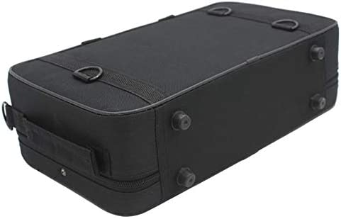 Monland Black Foam Padded Thicken Oxford Cloth Sotrage Bag Clarinet Box Case With Handle Strap Clarinet Protection Accessories