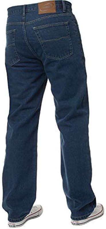 Nowość męskie proste legginsy proste ciężkie dżinsy dżinsy denim spodnie wszystkie biodra duże rozmiary: Odzież