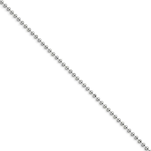 Stainless Steel 2.4mm Ball Chain 18'' inches (18' Stainless Chain)