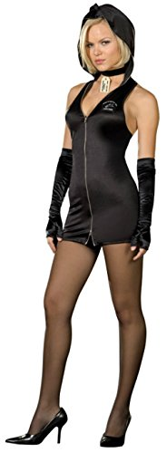 Csi Girl Costume (Dreamgirl Womens Jane Doe Morgue Girl Police Csi Outfit Fancy Dress Sexy Costume, M (6-10))