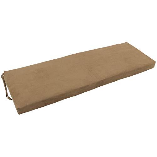 Blazing Needles 57-inch Microsuede Indoor Bench Cushion - Small Microsuede Bench