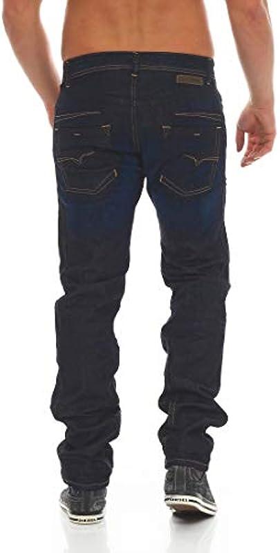 Diesel Darron WASH SR020 męskie spodnie jeansowe, regular slim tapered do wyboru: Odzież