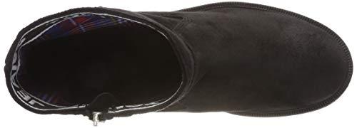 Suede Mujer black 990 Negro Botas Motero Para Estilo Jeans Essential Boot Tommy Biker 4wURxFBAqF