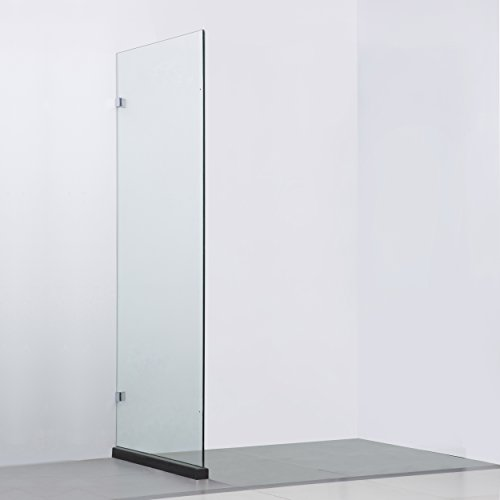Side Panel Shower Enclosure - BAI 0929 Frameless Glass Shower Enclosure / Reversible Side Panel - 36
