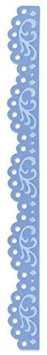 (Sizzix 657413 Sizzlits Decorative Strip Die, Vintage Lace Edging by Scrappy Cat, Blue)