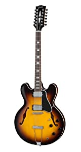 gibson es 335 12 string vintage sunburst case electric guitars hollow and semi hollow amazon. Black Bedroom Furniture Sets. Home Design Ideas