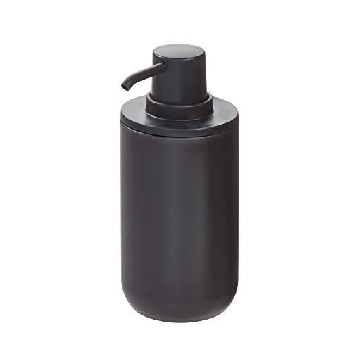 InterDesign Cade Plastic Pump, Liquid Soap Dispenser Holds 12 Oz. for Bathroom, Kitchen Sink, Vanity, Matte Black