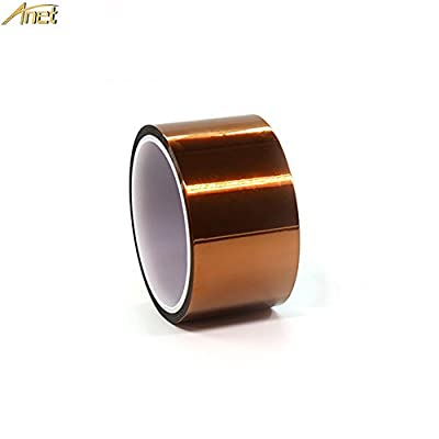 Anet Heat Resistant Tape 50mm x 33m, High Temperature Resistant Polyimide Adhesive Tape Insulation Tape for 3D Printer Platform, BGA Heating, Soldering Task, Electronic Repair
