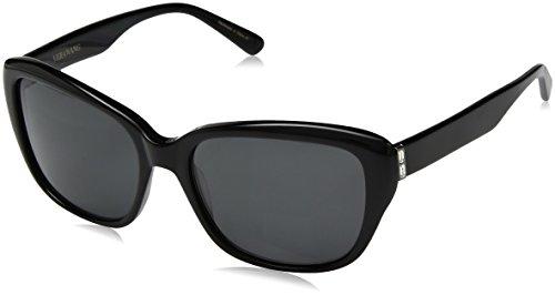 Vera Wang Women's V446 Square Sunglasses, Black, 55 ()