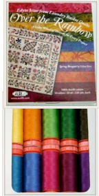Laundry Basket Quilts Over the Rainbow Aurifil Thread Kit 10 Small Spools 50 Weight ORES1050S