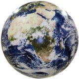 Earthball, Inflatable Earth Globe from satellite images, Glow in the Dark Cities -