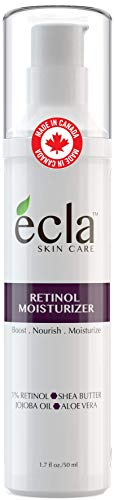Retinol Moisturizer Cream for Face and Under Eyes - Made in Canada with 1% Retinol, Shea Butter and Organic Aloe Vera Juice. Best Night and Day Moisturizing Cream (1.7 fl oz - 50 ml) Airless Bottle