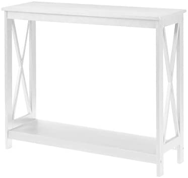 White sofa table Small Amazoncom Convenience Concepts Oxford Console Table White Home Kitchen Amazoncom Amazoncom Convenience Concepts Oxford Console Table White Home
