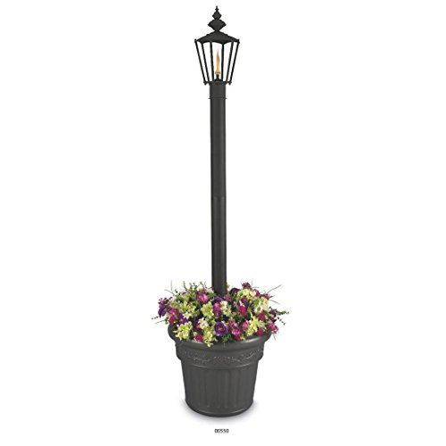 Islander 550 Black Single Citronella Planter, 80-inches (Patio Living Concepts Resin Planter)