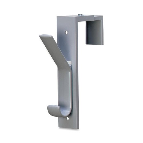 """Wholesale CASE of 10 - Deflect-O Partition Hooks-Partition Hook,1-1/2""""x6-1/2""""x2-1/2"""",Adjusts to 2-3/4"""",Gray"""
