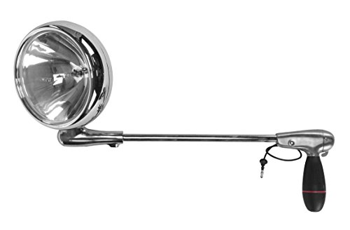 1999 Mitsubishi MONTERO SPORT Post mount spotlight - 6 inch - 100W Halogen - Driver side WITH install kit(-Chrome)