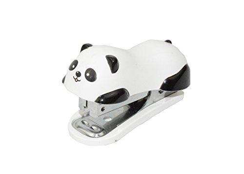 Y&Y Star Cute Panda Mini Desktop Stapler&staple Hand Stapler and 10 # Cartoon Cute Little Student Staplerfor Office Home Travel(62.5cm) (Panda)