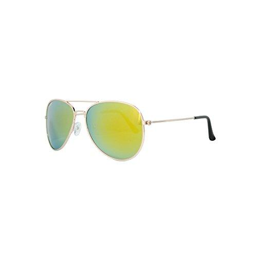 Gold Corleonne Gafas de POLARIZADAS espejo sol Full cristal qCwHwI