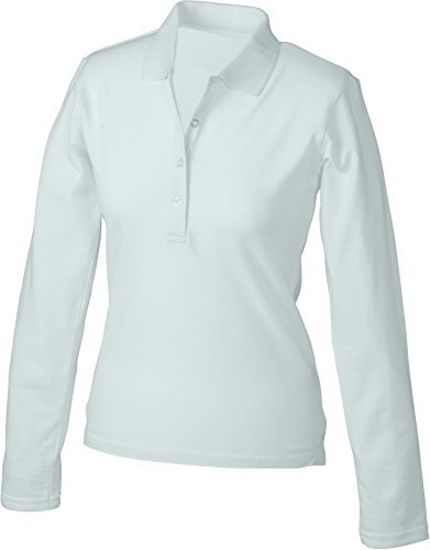 Lunga White Long 2store24 Manica sleeved Polo Confortevole LadiesElastic FxE1U