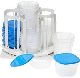 - Swirl Around Carousel & Storage Food Containers