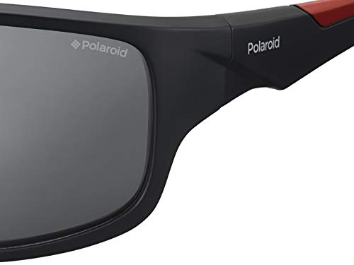 e883d14a5adf Polaroid Sunglasses Men s Pld7010s Polarized Rectangular Sunglasses BLK  REDGD 64 mm