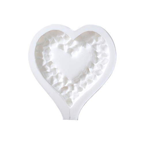 (yuanhaourty Broken Heart Star Silicone Mold Cake Fondant Soap Candle Resin Jewelry Mold )