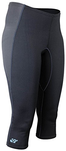 Stohlquist Women's 1mm Rapid Capri-Black-XS by Stohlquist Waterware