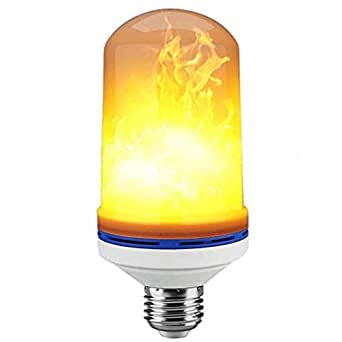 Flame Bulb,4W E26 LED Flame Fire Flicker Candle Effect Light Bulb,Holiday Decorative Light,Atmosphere Lighting for Festival Christmas Decorations Bar Cafe Home Bedroom Party