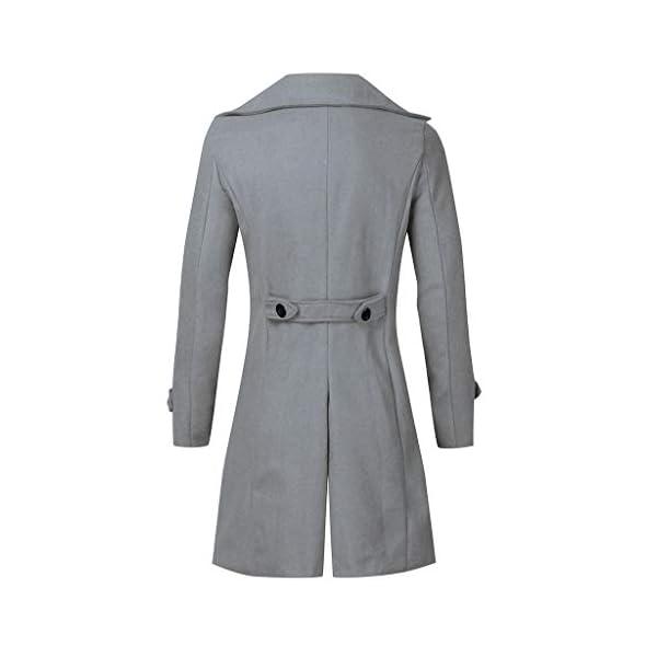 ELECTRI Parka Homme Grande Taille Hiver, Pardessus Slim Fit Veste Long Bombers Trench Coat Outwear Manteau en Laine…