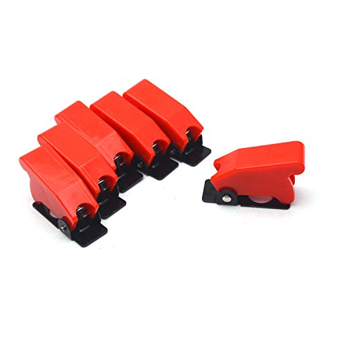 Antrader Plastic 12mm Mount Dia. Toggle Switch Cover Dustproof Safety Waterproof Safety Flip Cover Cap Red - Toggle Mount Switch