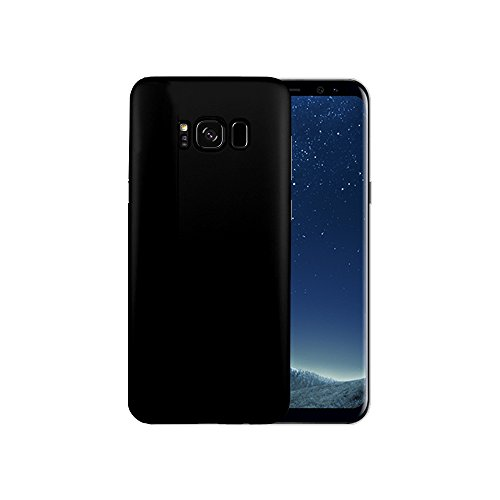 Sp Carbon Fiber Front Lip - [2 Pack] Galaxy S8 Plus Slim Fit Case (Soild Black) + Screen Protector (Black) ,FANSONG 3D Full Coverage Anti-fingerprint Curved Tempered Glass Screen Protector for Samsung Galaxy S8 Plus