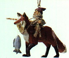 Hallmark Folk Art Americana Riding in the Woods - Rare Fox dated 1993