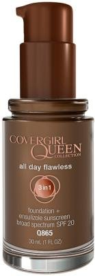 CoverGirl Queen Collection All Day Flawless Foundation - True Ebony (Pack of 2)