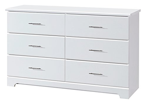 Storkcraft Brookside 6 Drawer Dresser, White, Kids Bedroom Dresser with 6 Drawers, Wood and Composite Construction, Ideal for Nursery Toddlers Room Kids Room