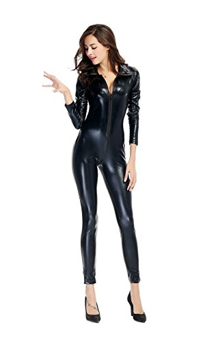 ab1e615ef5e57 LHS Charmer Women's Pu Faux Leather Catsuit Teddy Night - Import It All