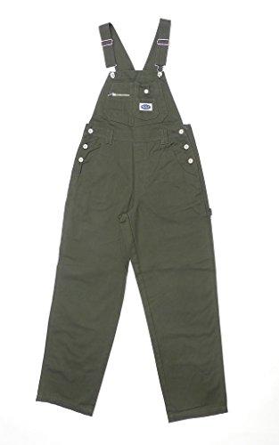 Revolt Women's Classic Bib Overalls Olive Green Size Medium