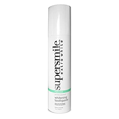 Supersmile Extra White Teeth Whitening Toothpaste - Clinically Proven to Whiten Teeth - Restore Enamel and Fight Cavities - Triple Mint 7oz