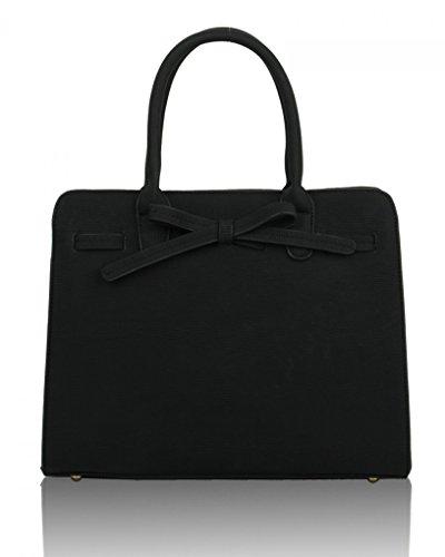 LeahWard Women's Bow Grab Tote Bags Cute Shoulder Bag Handbags For Holiday Casual 051 BLACK TOTE