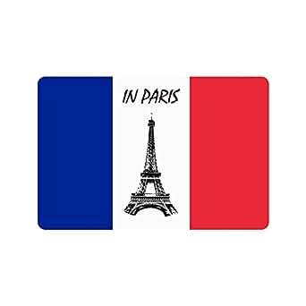 """Custom decorativo de bandera de Francia Felpudo para interiores/al aire libre Felpudo 23.6""""x 15.7"""" tela no tejida antideslizante"""