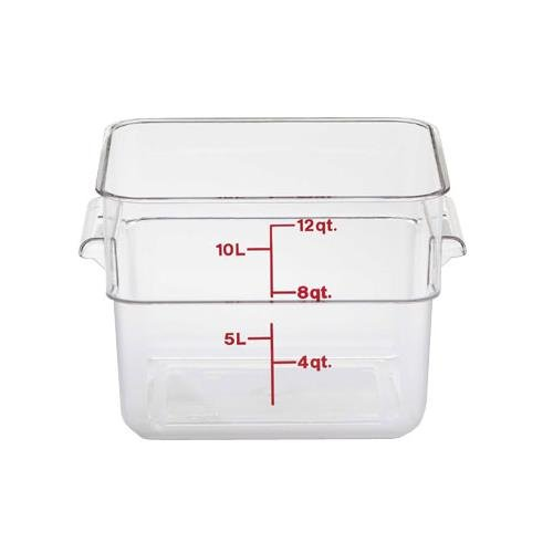 Cambro 12SFSCW135 Cambro Square Container 12 Quart Capacity, Clear (Square Containers 12 Quart)
