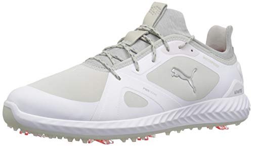 - PUMA Golf Men's Ignite Pwradapt Golf Shoe, White/Gray Violet, 11 M US
