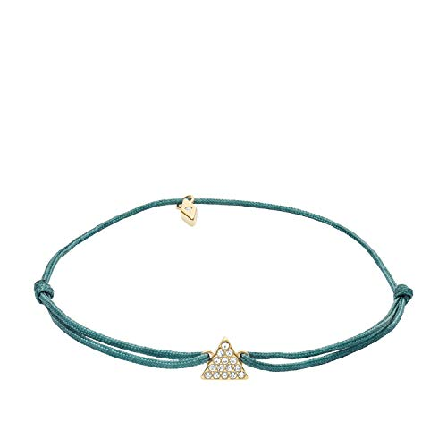 Fossil Women's Triangle Green Nylon Bracelet, One Size