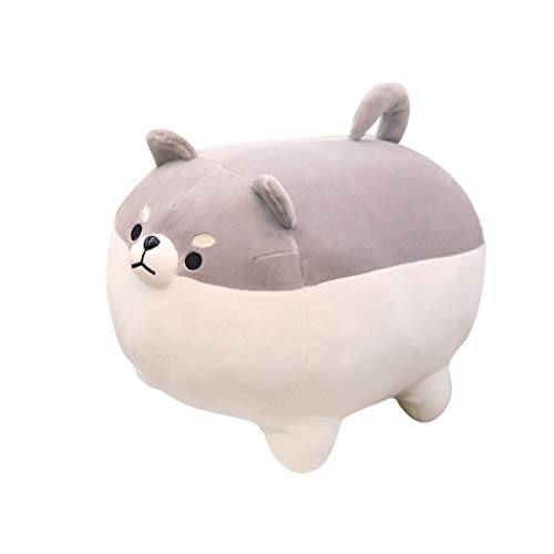 (Livoty Stuffed Animal Anime Shiba Inu Plush Stuffed Soft Pillow Doll Cartoon Doggo Cute Soft Plush Toy (Gray,)