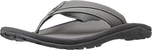 OLUKAI 'Ohana Koa Vegan-Friendly Waterproof Sandals (Men's) 7 Charcoal/Charcoal