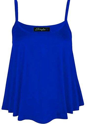 Glossy Look - Canotta - Basic - Senza maniche  -  donna blu XXL