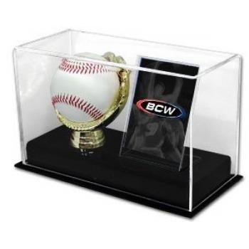 Holder Baseball Glove (BCW 1-AD-BC Acrylic Gold Glove Ball And Card Display)