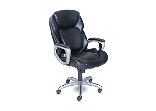 Serta My Fit Executive Office Chair with 360 Motion Support, Black by Serta