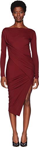 (Vivienne Westwood Women's Long Sleeve Vian Dress Vino Small)