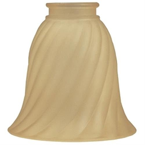 Lowes (0321859) Amber Waves Replacement Vanity Shade, Beige- Lot of 2